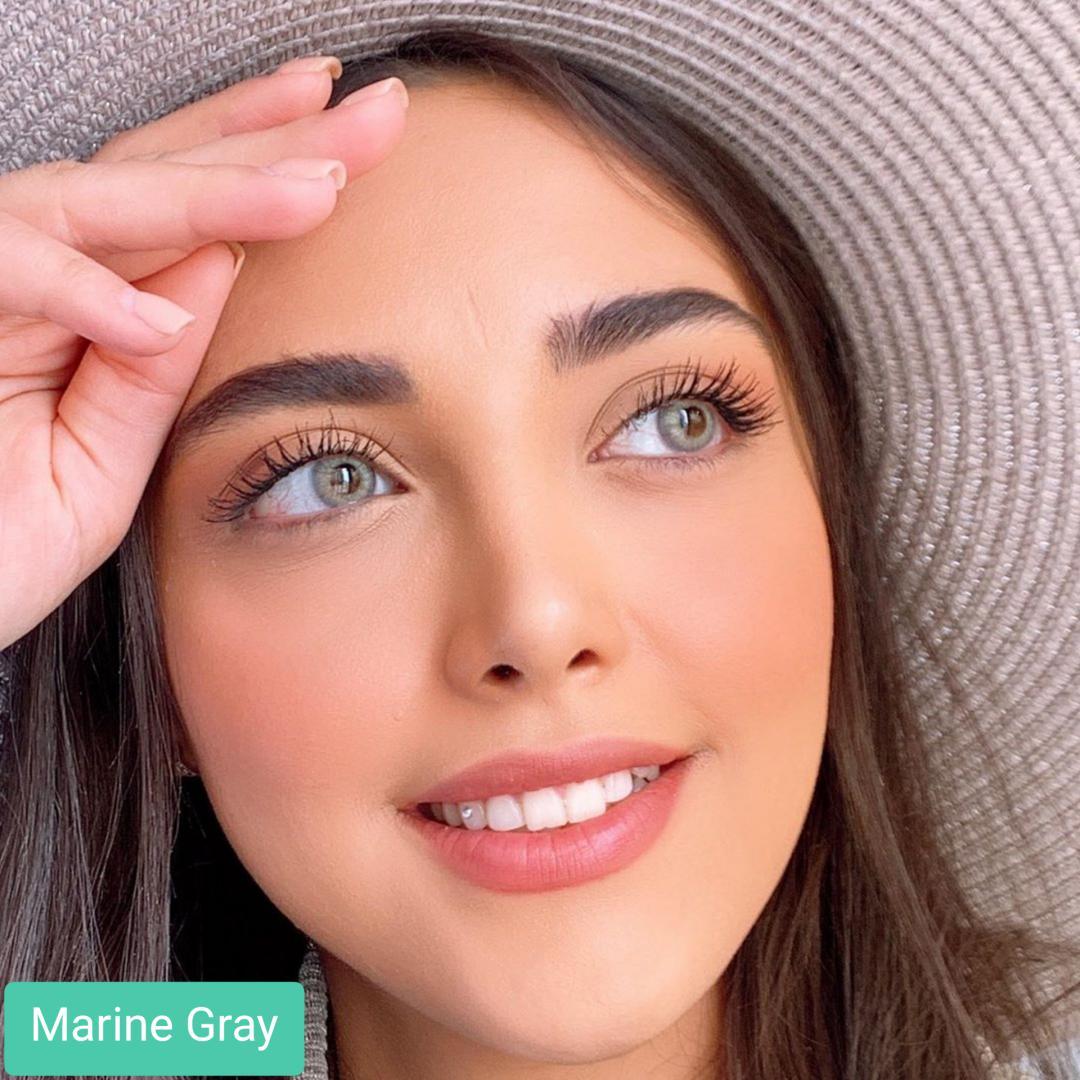 فروش لنز Marine Gray (طوسی سبز وسط عسلی) برند کریستال  بهمراه قیمت امروز لنز رنگی و قیمت امروز لنز طبی