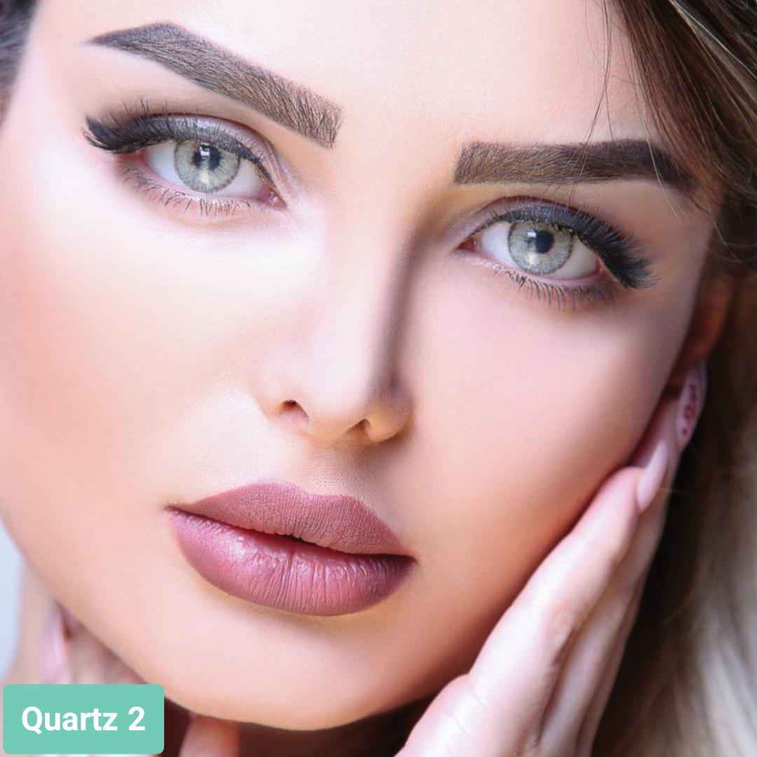 فروش لنز Quartz 2 (طوسی سبز)  برند آیسکالر بهمراه قیمت امروز لنز رنگی و قیمت امروز لنز طبی