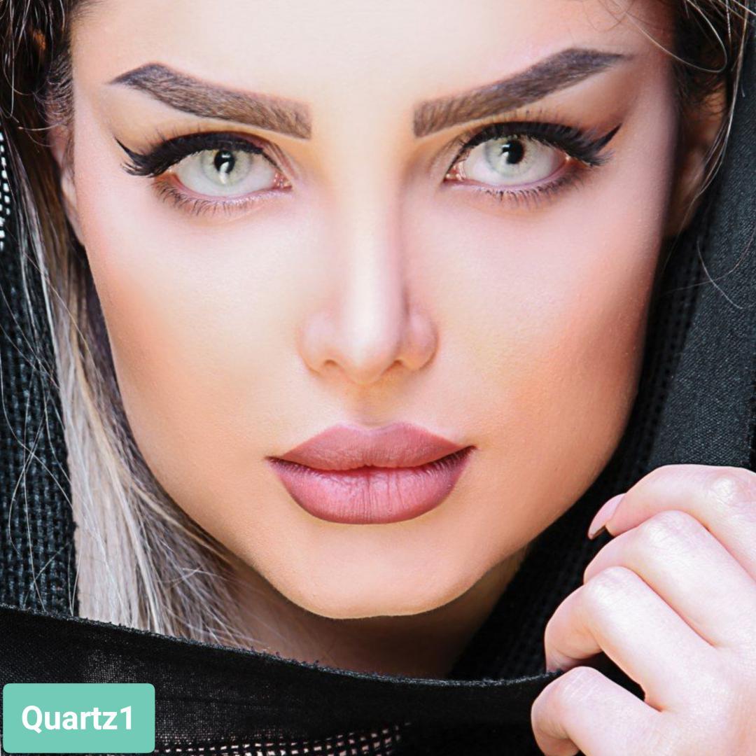فروش لنز Quartz 1 (طوسی سبز)  برند آیسکالر بهمراه قیمت امروز لنز رنگی و قیمت امروز لنز طبی