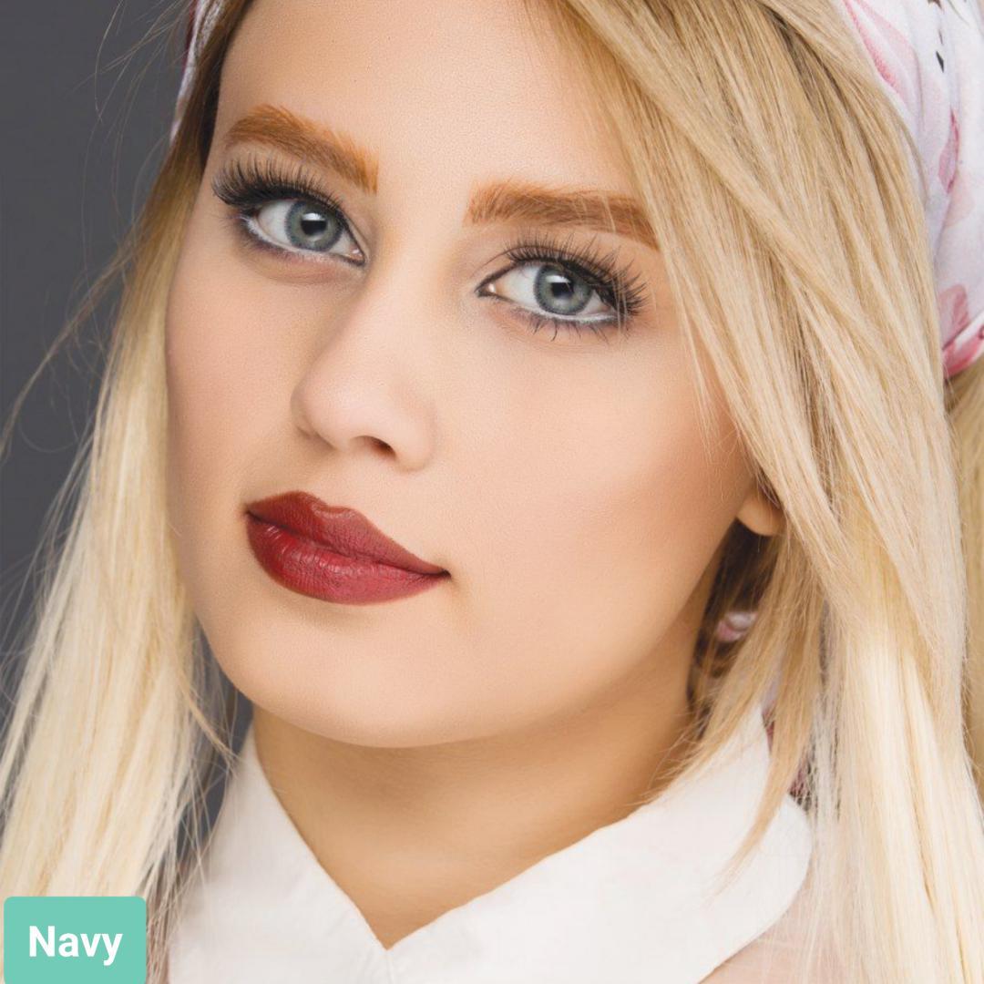 فروش لنز Navy (طوسی سبز)  برند آیسکالر بهمراه قیمت امروز لنز رنگی و قیمت امروز لنز طبی
