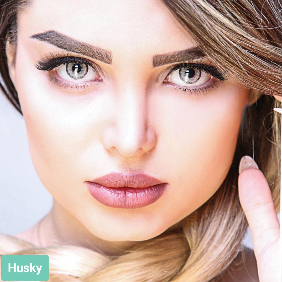 فروش لنز Husky (طوسی سبز)  برند آیسکالر بهمراه قیمت امروز لنز رنگی و قیمت امروز لنز طبی