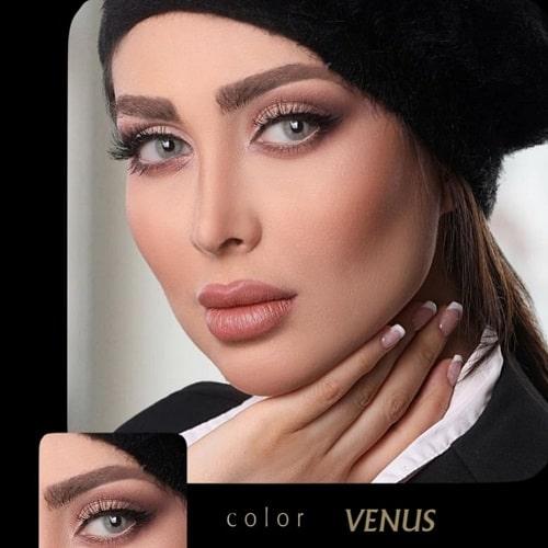 Venus(طوسی سبز بدون دور) برند آیسکالر به همراه قیمت امروز لنز طبی و قیمت امروز لنز رنگی