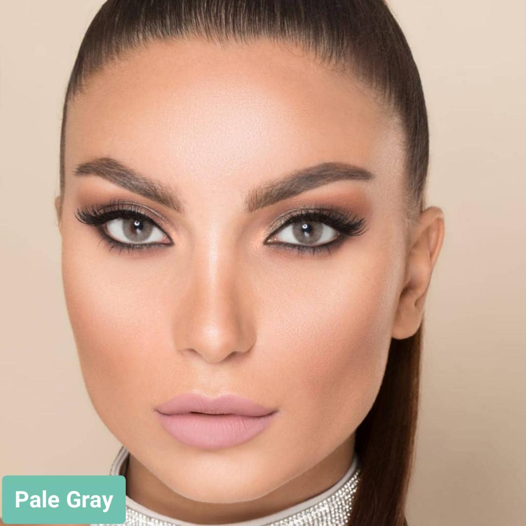 فروش لنزPale Gray (طوسی عسلی متوسط)  برند لورنس  بهمراه قیمت امروز لنز رنگی  و قیمت امروز لنز طبی