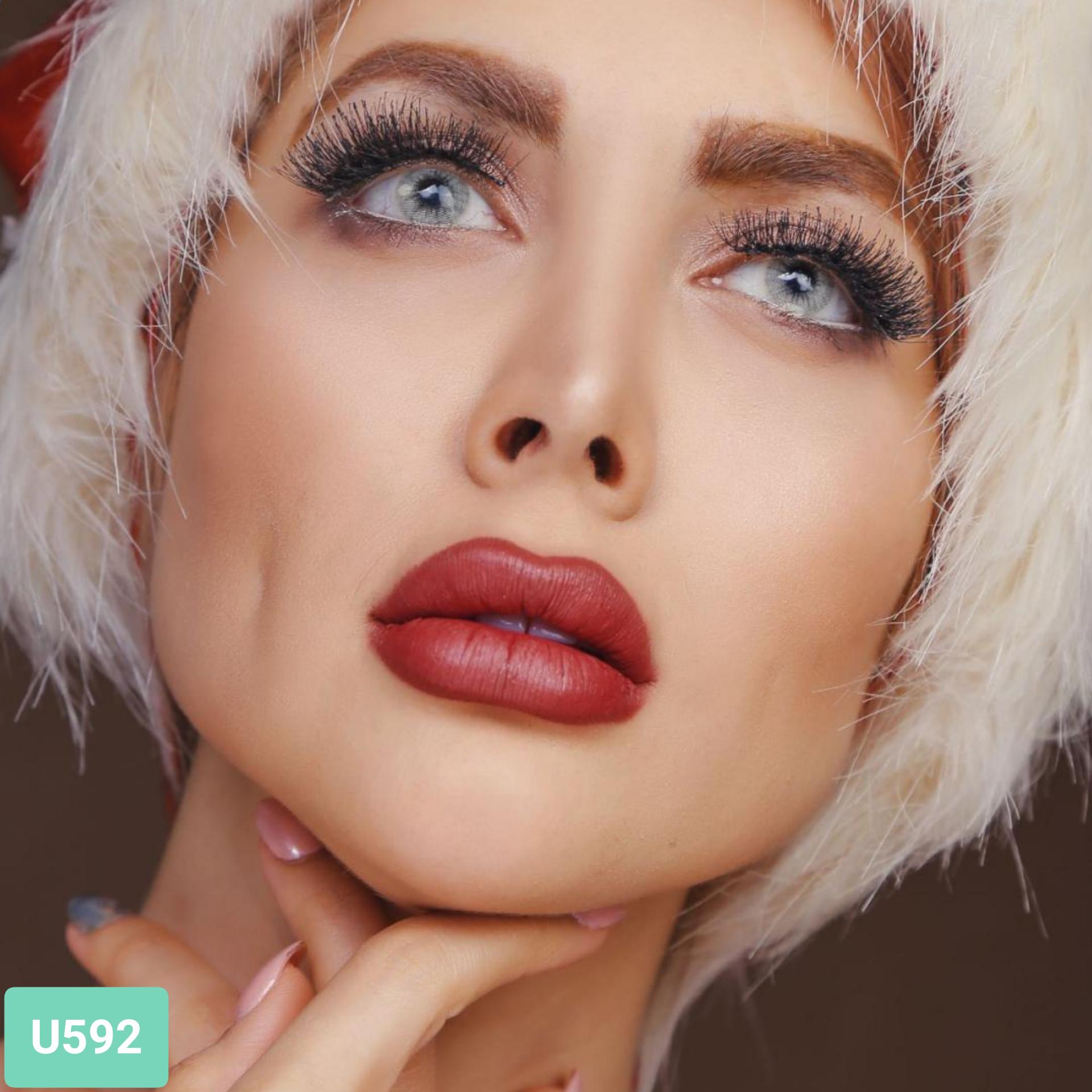 فروش لنز U592 (طوسی بژ)  برند کلیرویژن رنگی بهمراه قیمت امروز لنز رنگی و قیمت امروز لنز طبی
