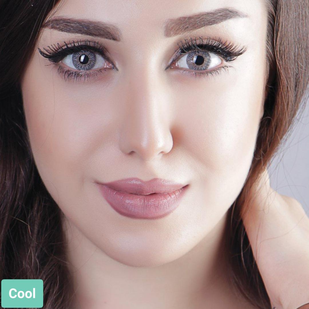 فروش لنز Cool (طوسی عسلی)  برند آیسکالر بهمراه قیمت امروز لنز رنگی و قیمت امروز لنز طبی