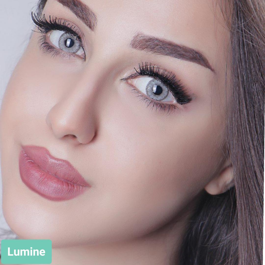 فروش لنز Lumine (طوسی)  برند آیسکالر بهمراه قیمت امروز لنز رنگی و قیمت امروز لنز طبی