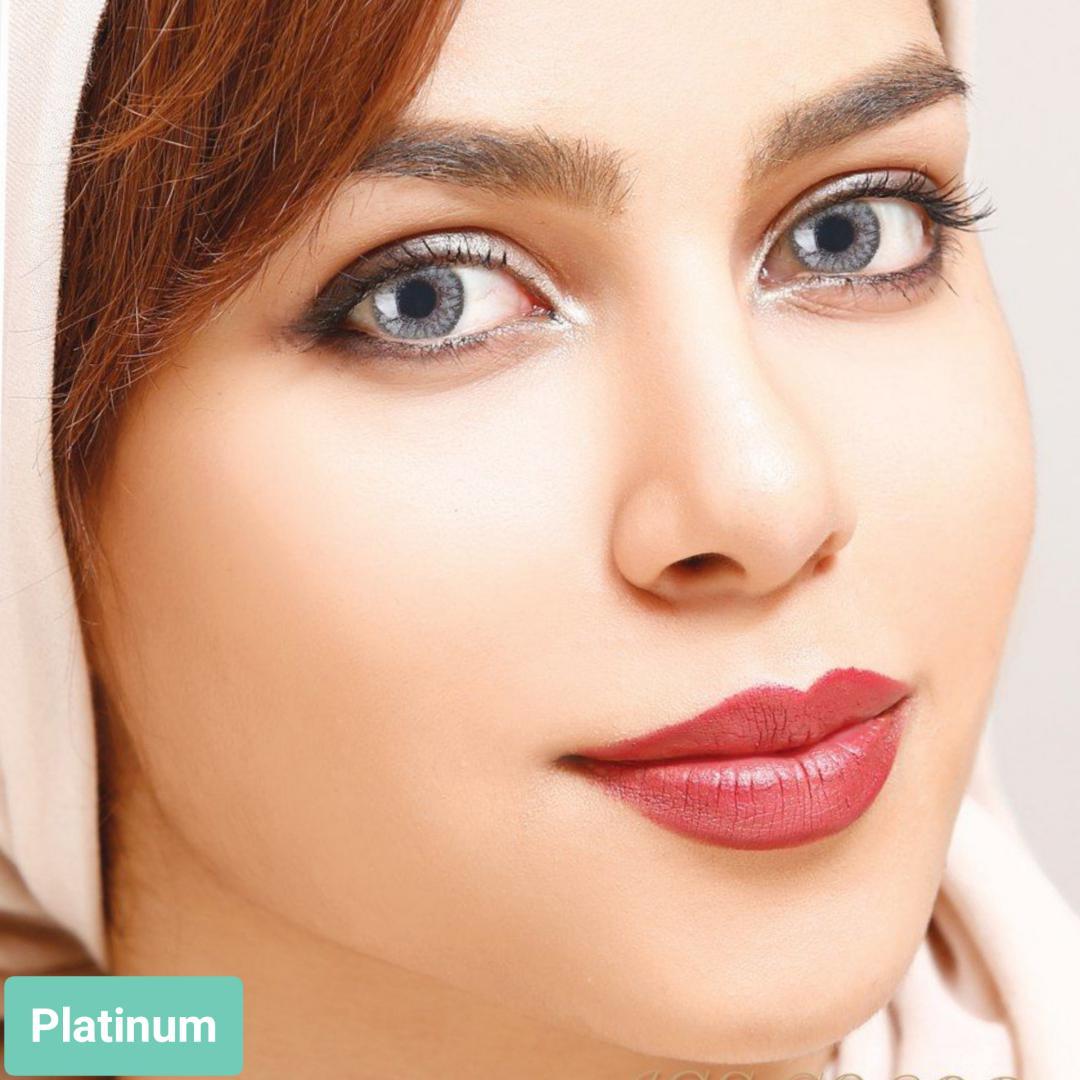 فروش لنز Platinium (طوسی)  برند آیسکالر بهمراه قیمت امروز لنز رنگی و قیمت امروز لنز طبی