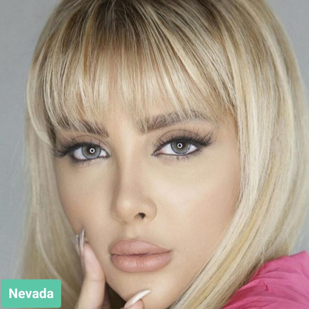 فروش لنز Nevada (طوسی فیلی دوردار)  برند ترسا لاکچری بهمراه قیمت امروز لنز رنگی  و قیمت امروز لنز طبی