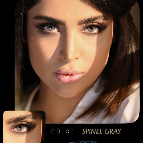 Spinel Gray(طوسی دوردار) برند آیسکالر به همراه قیمت امروز لنز طبی و قیمت امروز لنز رنگی