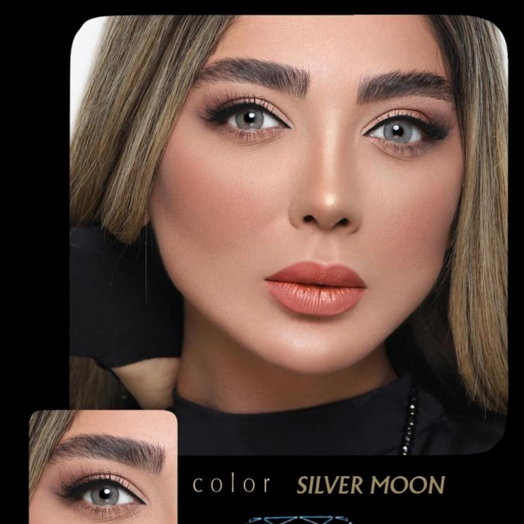 Silver Moon(طوسی روشن دور دار) برند آیسکالر به همراه قیمت امروز لنز طبی و قیمت امروز لنز رنگی