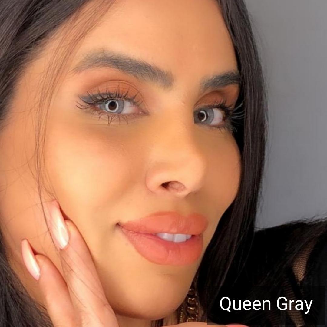 فروش Queen Gray (طوسی ته مایه آبی بدون دور ) برند دیاموند بهمراه قیمت امروز لنز رنگی و قیمت امروز لنز طبی
