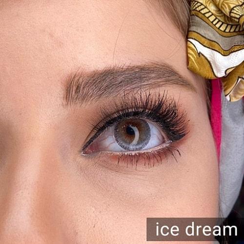 فروش Ice Dream ( طوسی دوردار) برند دیاموند بهمراه قیمت امروز لنز رنگی و قیمت امروز لنز طبی