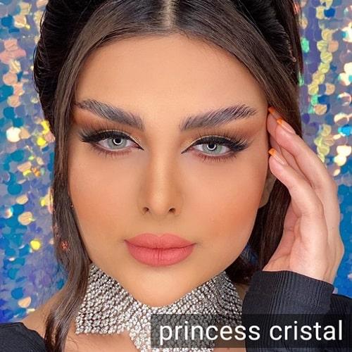 فروش لنز Princces Cristal ( طوسی سبز دور محو)  برنددیاموند بهمراه قیمت امروز لنز رنگی و قیمت امروز لنز طبی