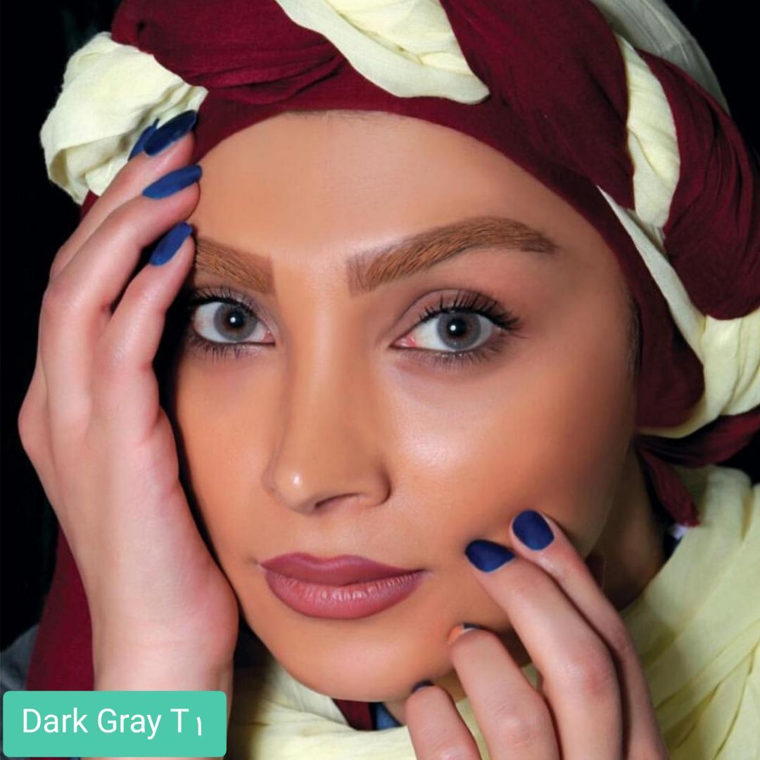فروش لنز Dark Gray T1(طوسی بدون دور) برند الگانس بهمراه قیمت امروز لنز رنگی و قیمت امروز لنز طبی