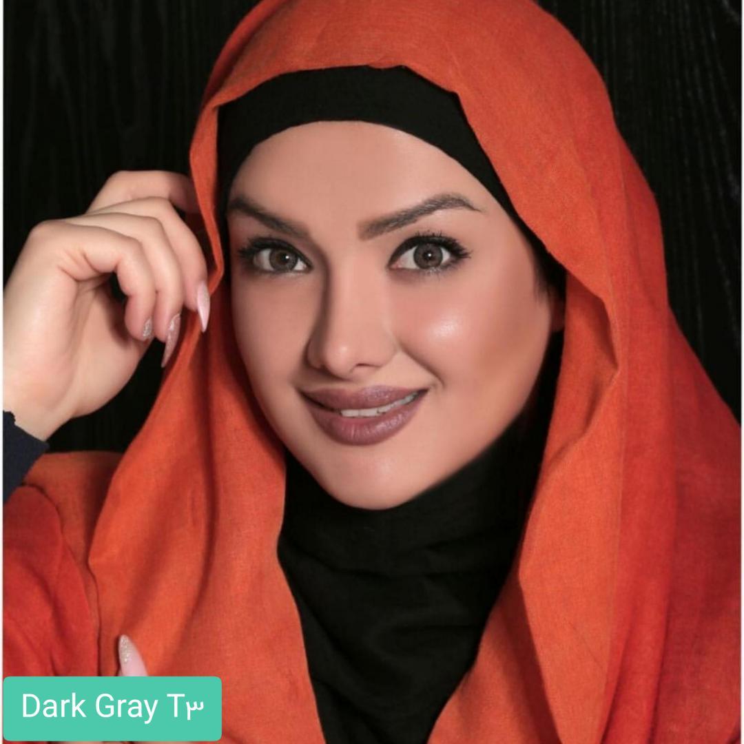 فروش لنز Dark Gray T3(طوسی عسلی) برند الگانس بهمراه قیمت امروز لنز رنگی و قیمت امروز لنز طبی