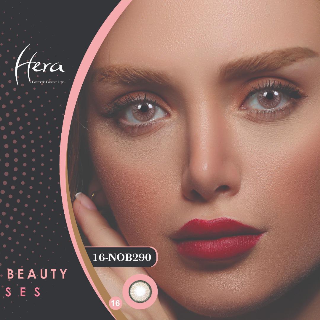 فروشNOB290(طوسی بژدوردار)برند هرا رنگی بهمراه قیمت امروز لنز رنگی و قیمت امروز لنز طبی