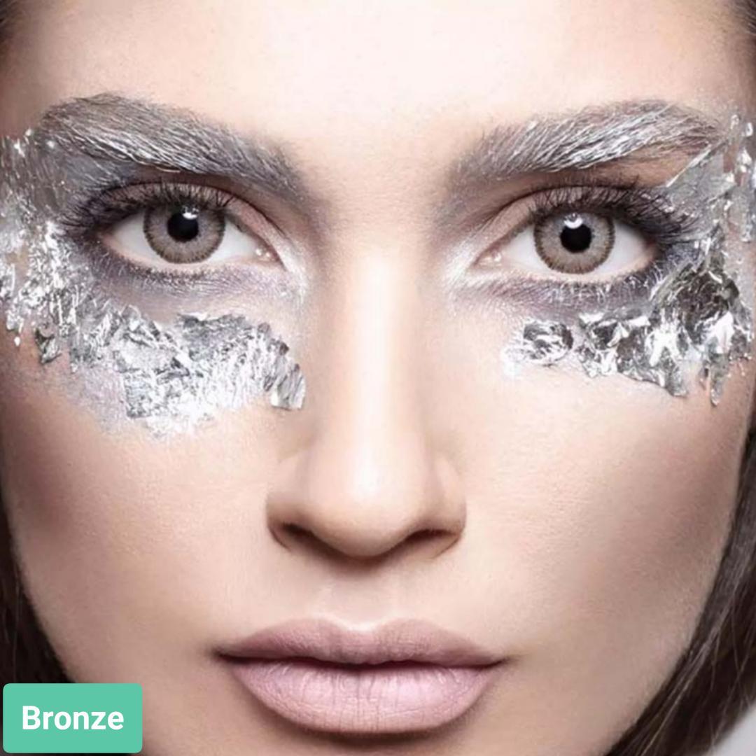 فروش لنز Bronze (عسلی طوسی دوردار)  برند آنستازیا بهمراه قیمت امروز لنز رنگی  و قیمت امروز لنز طبی