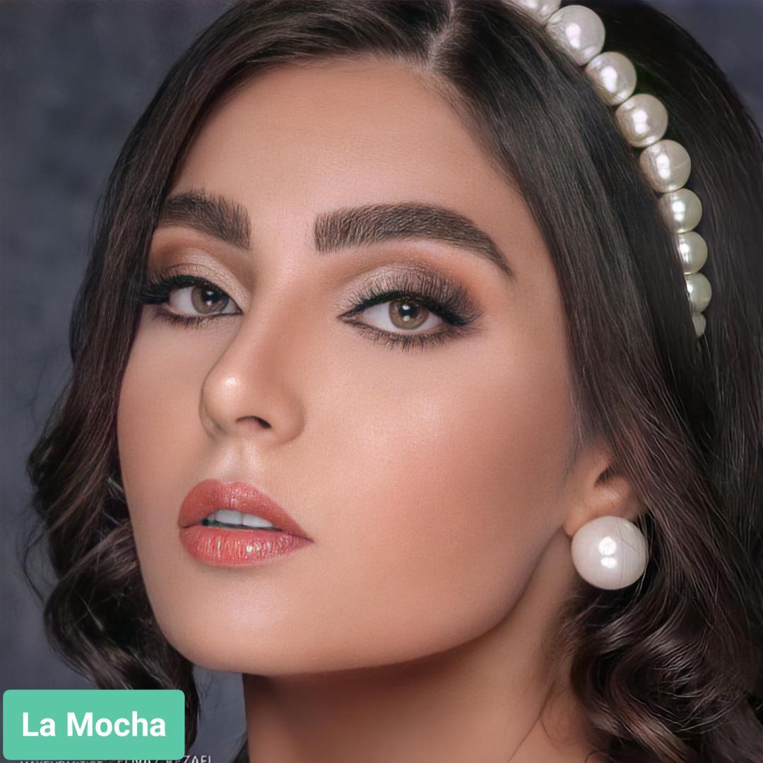 فروش لنزLa Mocha (عسلی سبز بدون دور)  برند آنستازیا بهمراه قیمت امروز لنز رنگی  و قیمت امروز لنز طبی