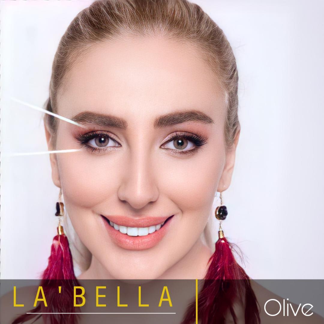 فروش لنز Oliva (عسلی بدون دور)  برند لابلا  بهمراه قیمت امروز لنز رنگی  و قیمت امروز لنز طبی