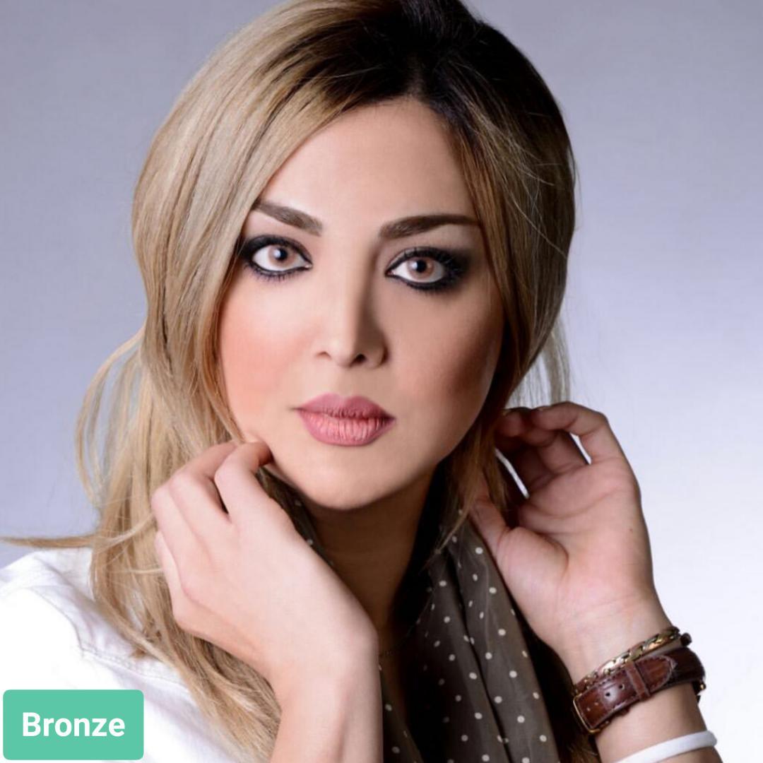 فروش لنز Bronze (عسلی مسی بدون دور)  برند استلاکالرز بهمراه قیمت امروز لنز رنگی  و قیمت امروز لنز طبی