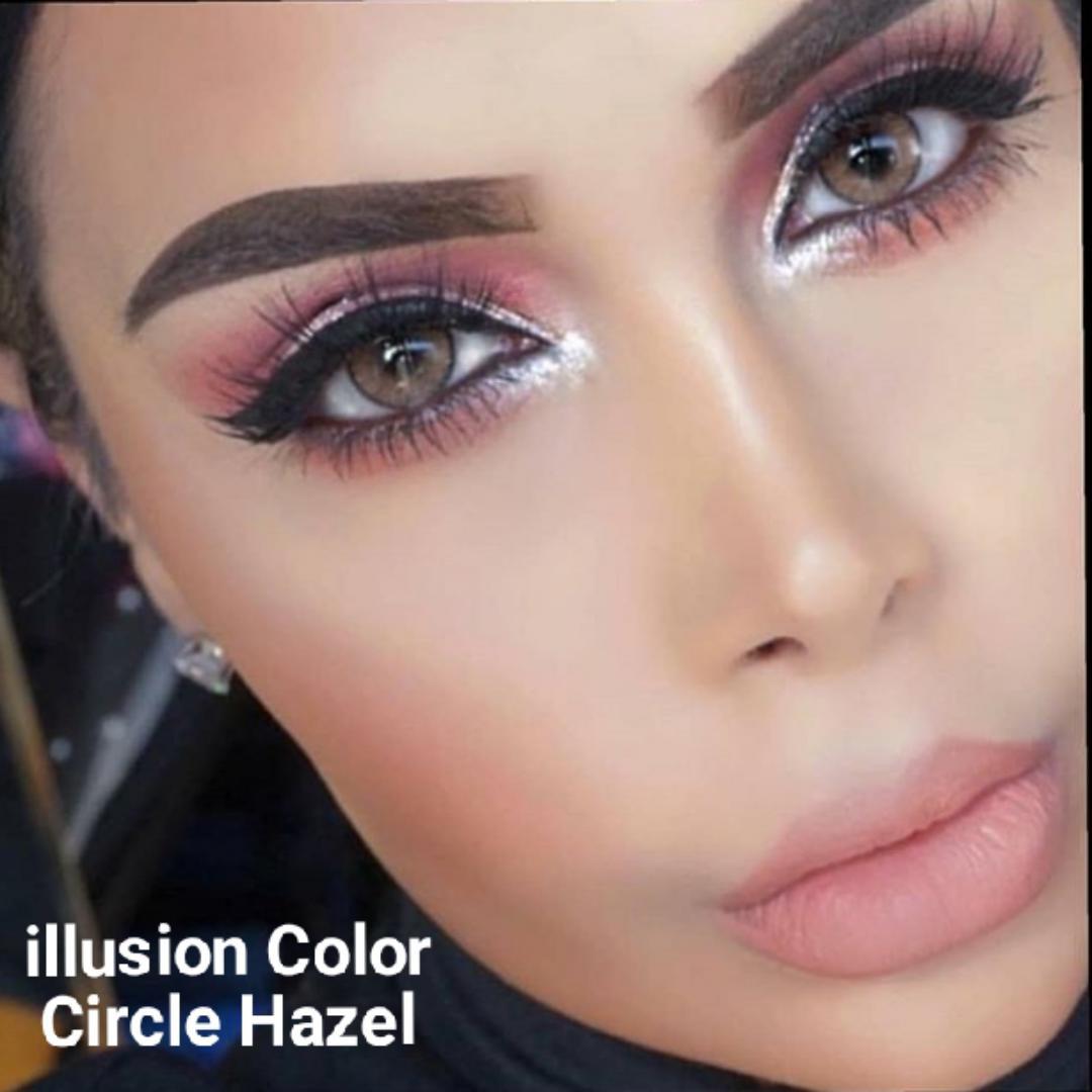 فروش لنز Circle Hazel (عسلی دوردار)   برند ایلوژن بهمراه قیمت امروز لنز رنگی  و قیمت امروز لنز طبی