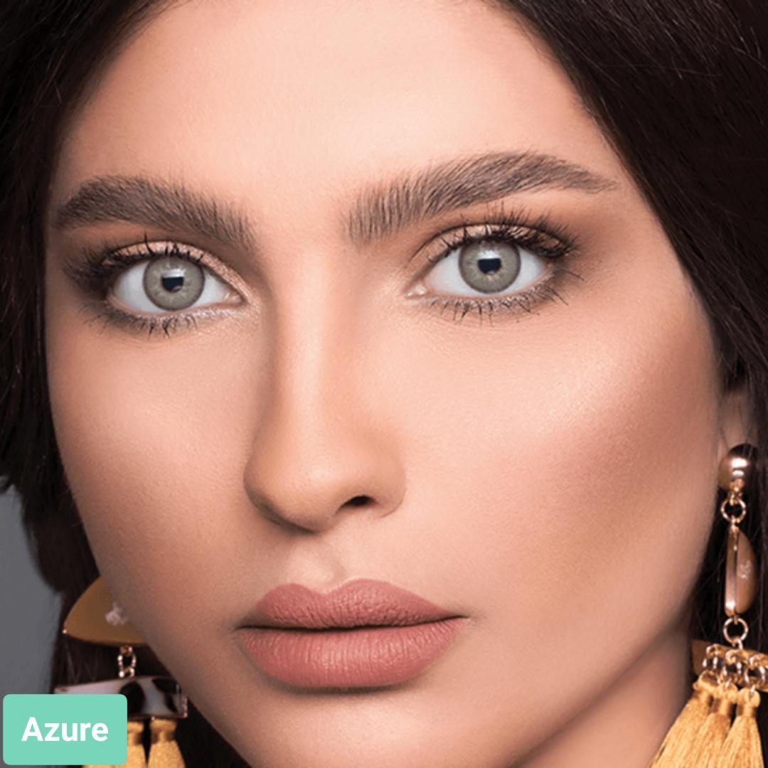 فروش لنز Azure (عسلی طلایی با دورخط)  برند لازرد بهمراه قیمت امروز لنز رنگی  و قیمت امروز لنز طبی