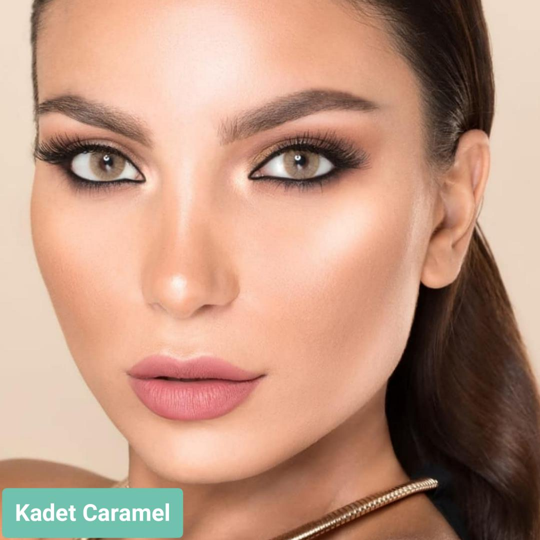 فروش لنز Kadet Caramel (عسلی کاراملی بدون دور)  برند لورنس  بهمراه قیمت امروز لنز رنگی  و قیمت امروز لنز طبی