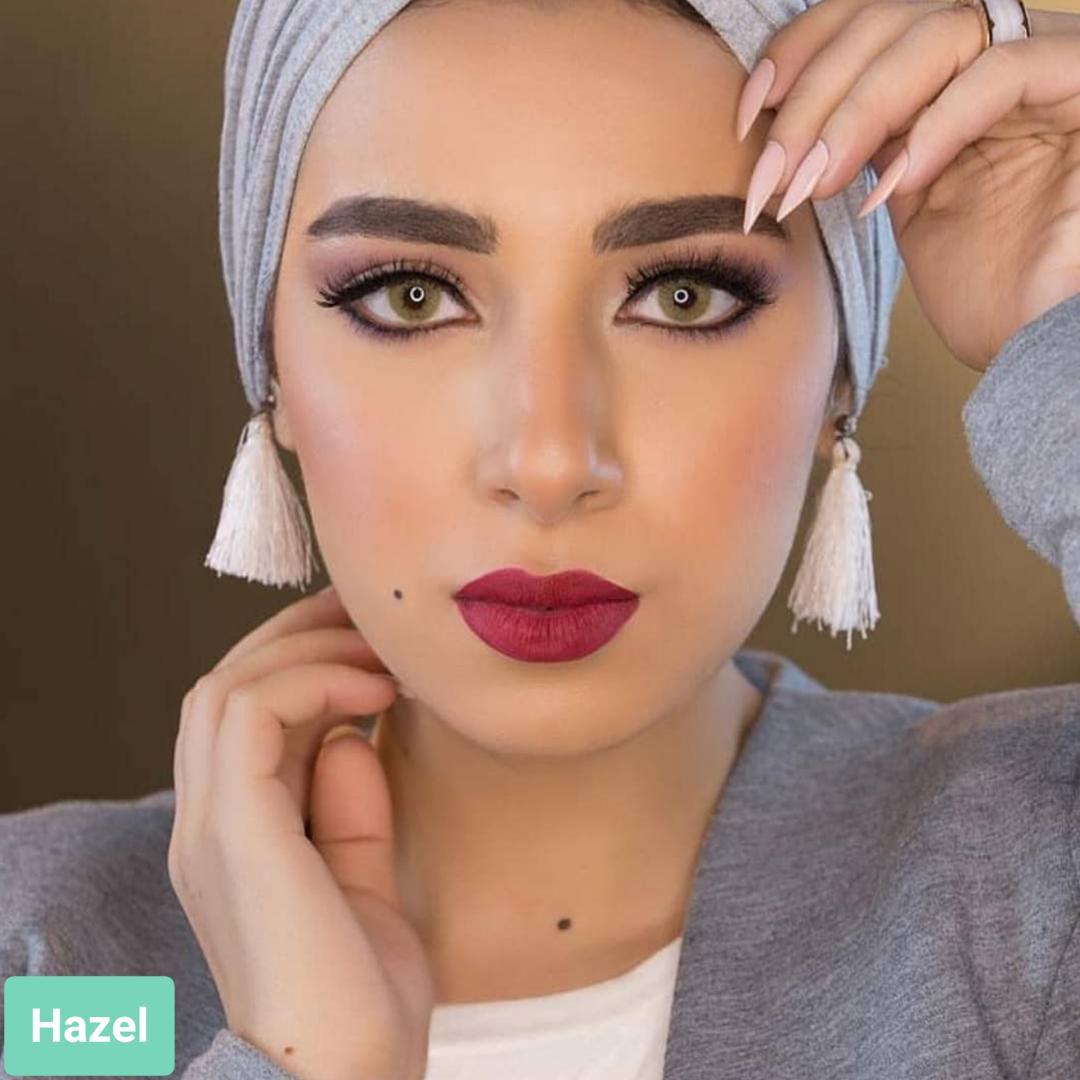 فروش لنز Hazel (عسلی بدون دور)  برند لومینوس بهمراه قیمت امروز لنز رنگی  و قیمت امروز لنز طبی