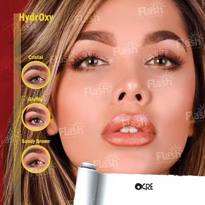 فروش لنز Ocre (عسلی بدون دور)  برند فلش  بهمراه قیمت امروز لنز رنگی و قیمت امروز لنز طبی