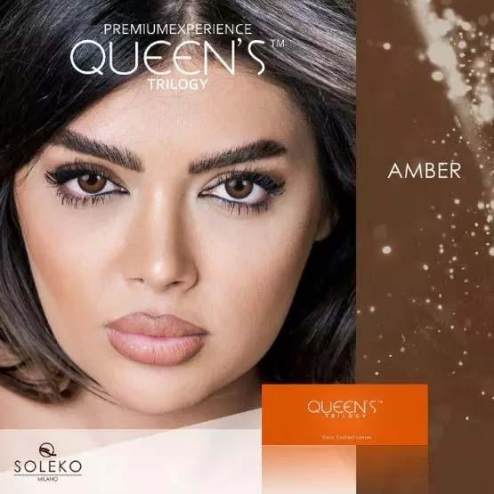 فروش لنز Amber (عسلی قهوه ای)  برند سولکو رنگی بهمراه قیمت امروز لنز رنگی و قیمت امروز لنز طبی