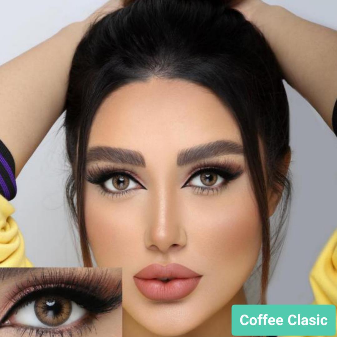 فروش لنز Coffee Classic (عسلی کاراملی دوردار) برند جمستون لاکچری  بهمراه قیمت امروز لنز رنگی و قیمت امروز لنز طبی