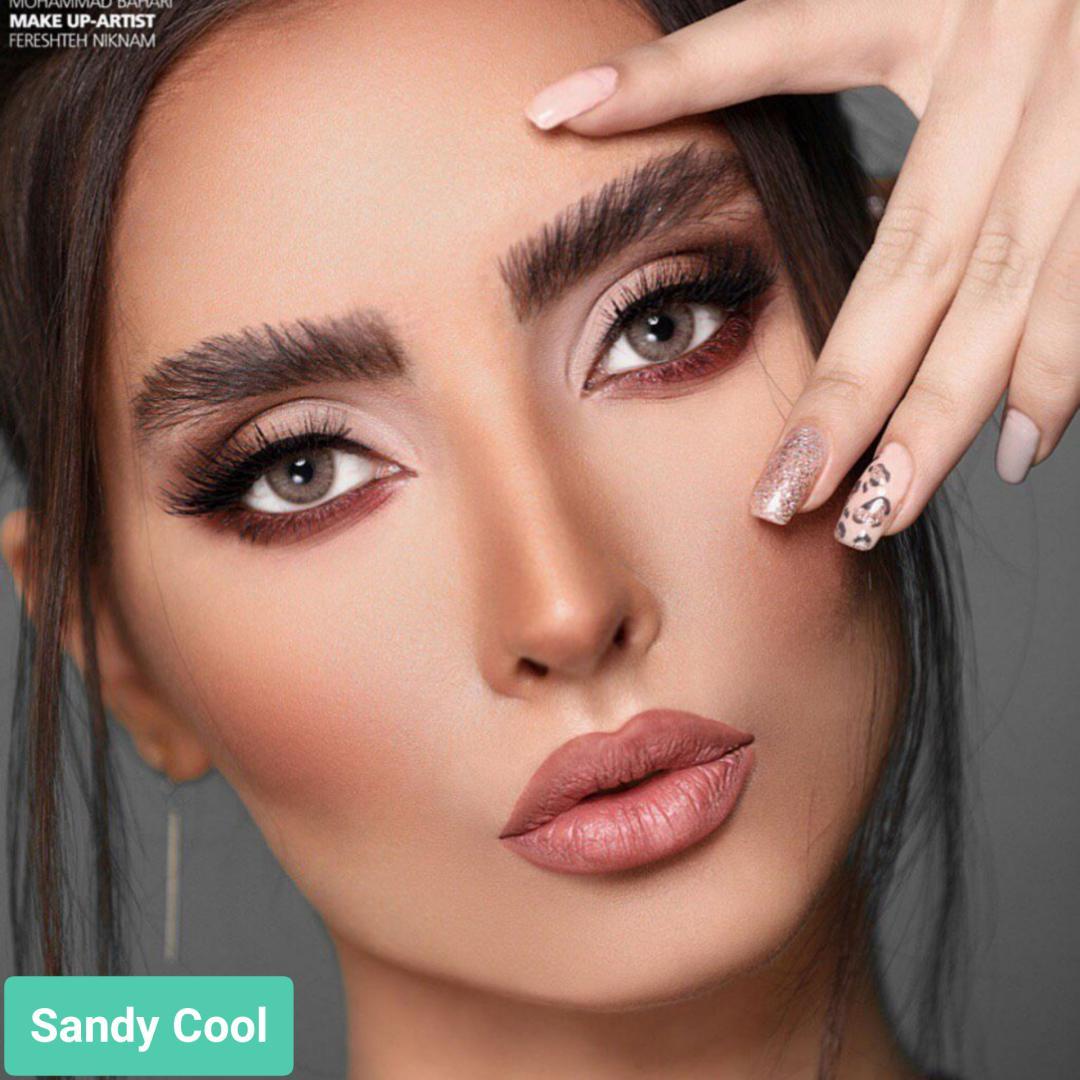 فروش لنز Sandy Cool (عسلی خاکی بدون دور)  برند جمستون لاکچری  بهمراه قیمت امروز لنز رنگی و قیمت امروز لنز طبی