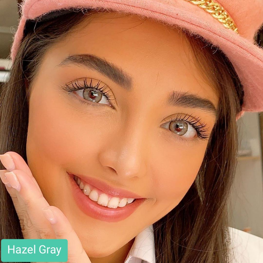 فروش Hazel Gray (عسلی وسط طوسی دوردار)  برند کریستال  بهمراه قیمت امروز لنز رنگی و قیمت امروز لنز طبی