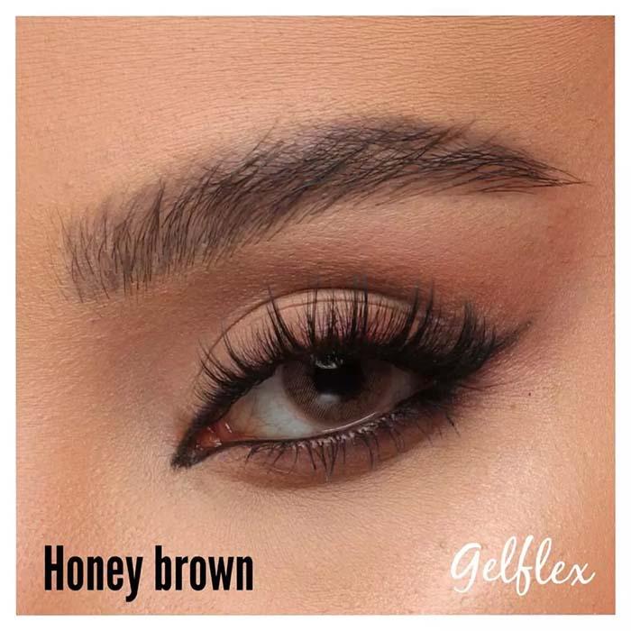 فروش Honey Brown (عسلی قهوه ای بدون دور)  برند کریستال  بهمراه قیمت امروز لنز رنگی و قیمت امروز لنز طبی