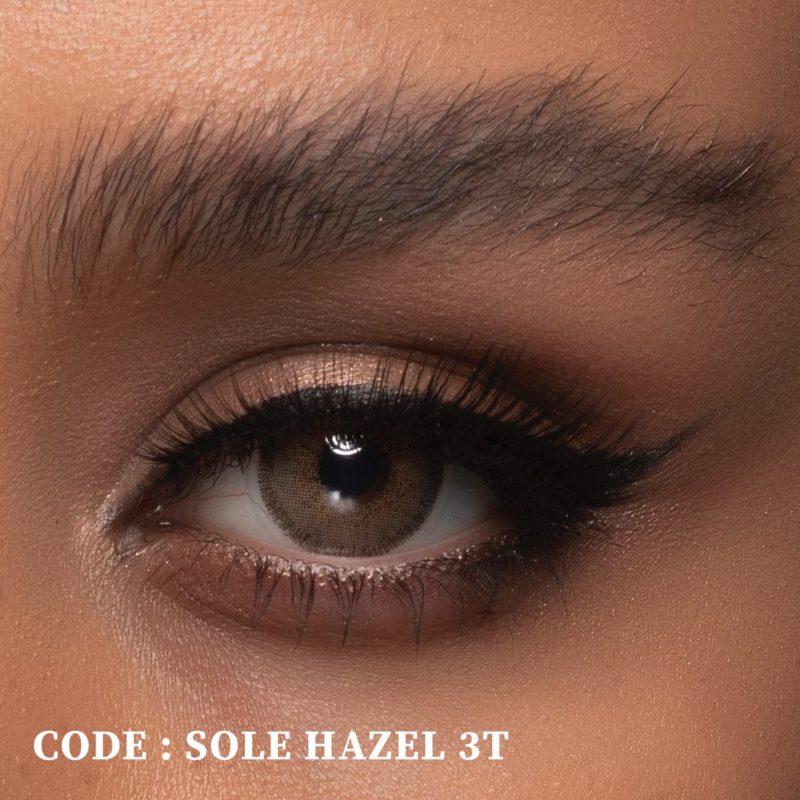فروش لنز Sole Hazel T3 (قهوه ای کاراملی وسط عسلی)  بهمراه قیمت امروز لنز رنگی  و قیمت امروز لنز طبی
