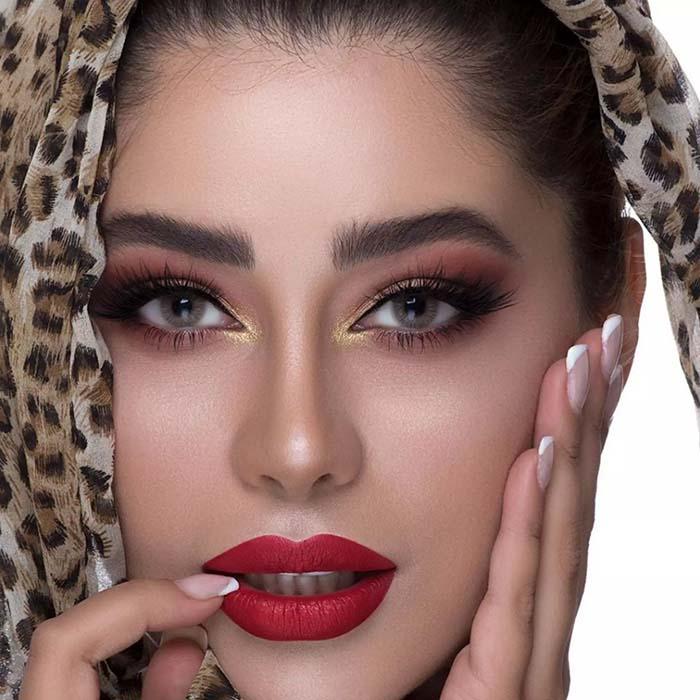 فروش لنز U594 (کاراملی)  برند هرا رنگی بهمراه قیمت امروز لنز رنگی و قیمت امروز لنز طبی