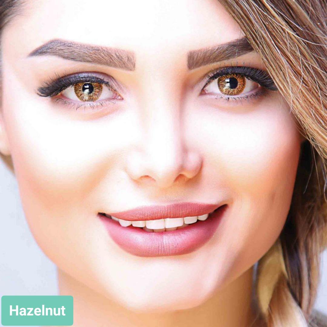 فروش لنز Hazelnut (عسلی)  برند آیسکالر بهمراه قیمت امروز لنز رنگی و قیمت امروز لنز طبی