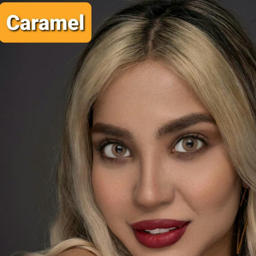 فروش لنز Caramel (عسلی خاکی)  برند پلی ویو بهمراه قیمت امروز لنز رنگی و قیمت امروز لنز طبی