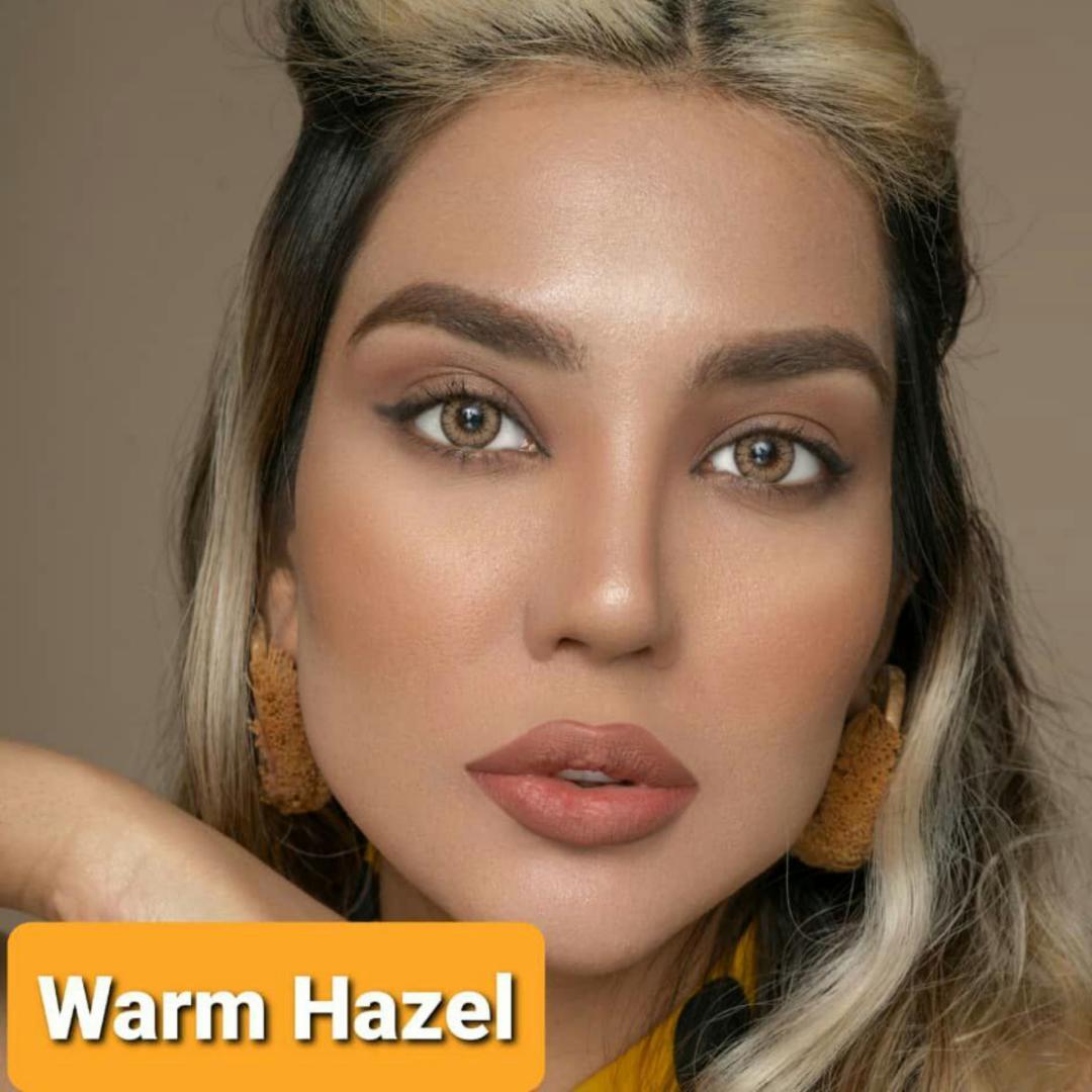 فروش لنز Warmhazel (عسلی)  برند پلی ویو بهمراه قیمت امروز لنز رنگی و قیمت امروز لنز طبی