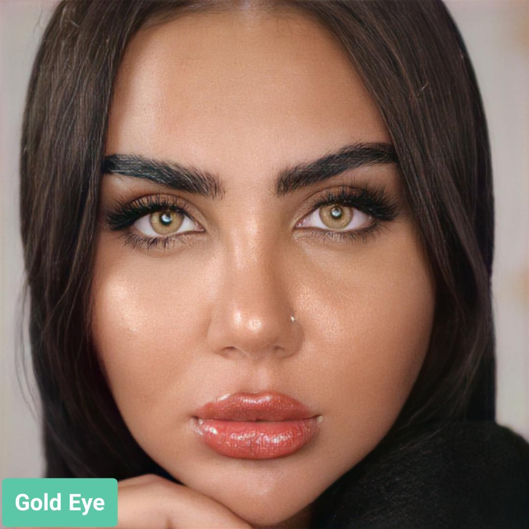 فروش لنز Gold Eye (شامپاینی بدون دور)  برند ترسا لاکچری بهمراه قیمت امروز لنز رنگی  و قیمت امروز لنز طبی
