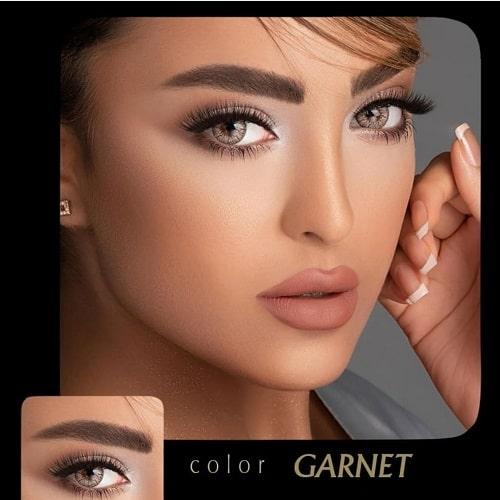 Garnet(عسلی روشن دوردار) برند آیسکالر به همراه قیمت امروز لنز طبی و قیمت امروز لنز رنگی