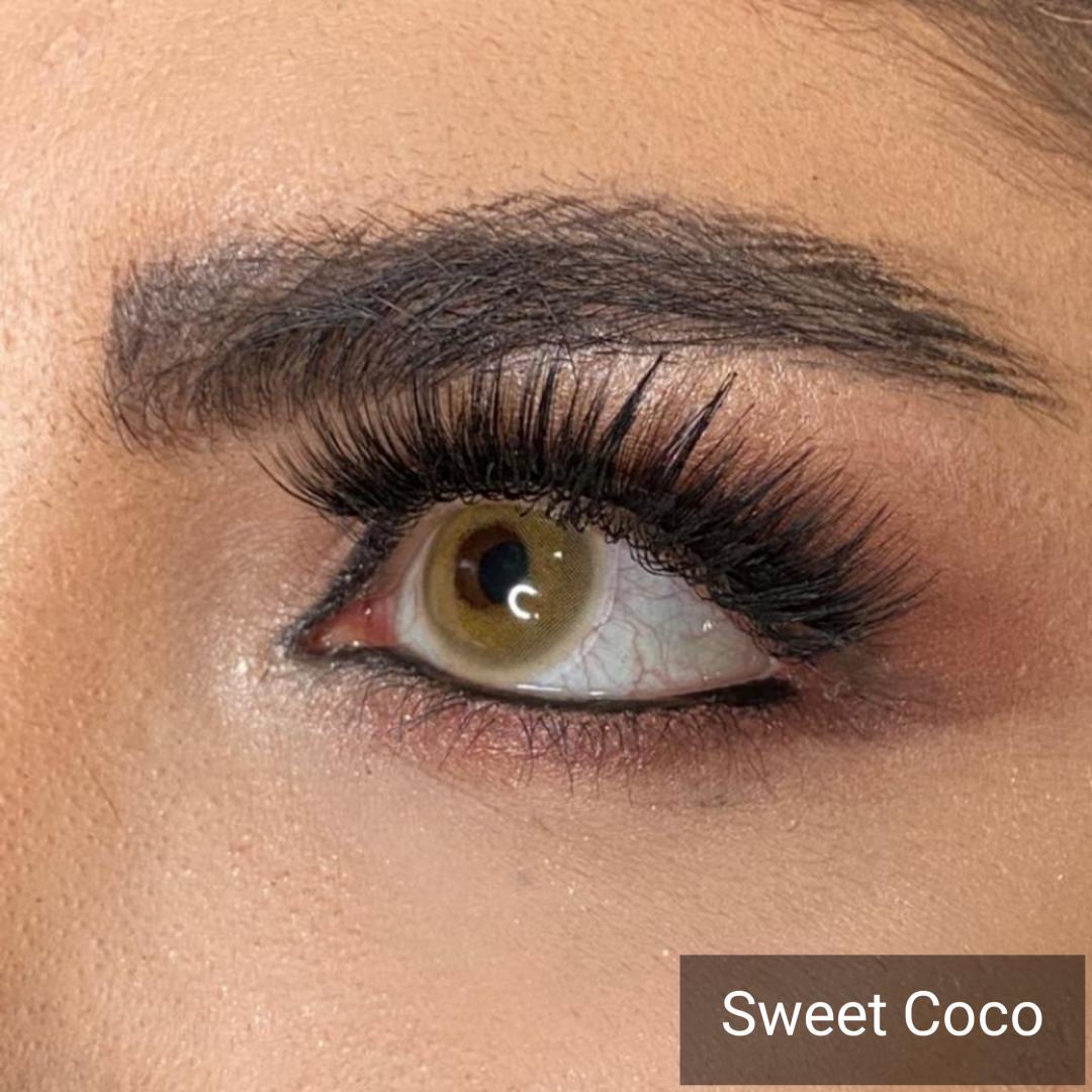 فروش Sweet Coco (شامپاینی دور محو)برند دیاموند بهمراه قیمت امروز لنز رنگی و قیمت امروز لنز طبی