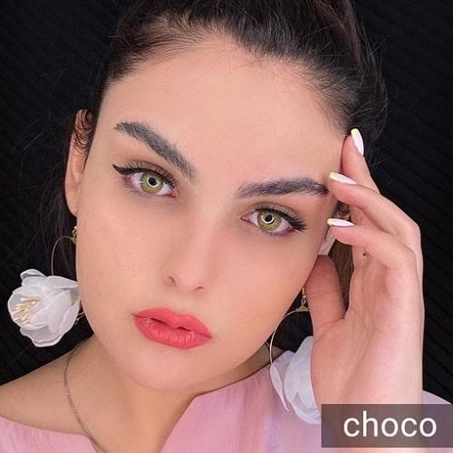 فروش لنز Choco ( عسلی شامپاینی بدون دور)  برنددیاموند بهمراه قیمت امروز لنز رنگی و قیمت امروز لنز طبی
