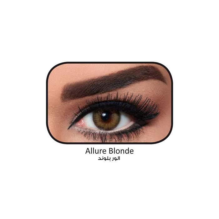 فروش لنزAlure Blonde (عسلی دوردار) برند بلا  بهمراه قیمت امروز لنز رنگی  و قیمت امروز لنز طبی