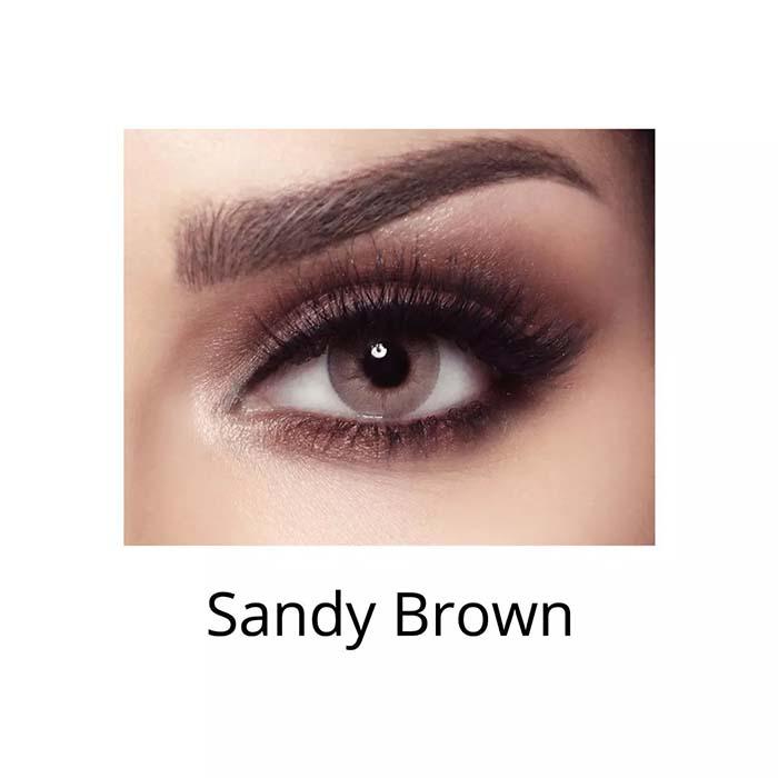 فروش لنزSandy Brown (عسلی کاراملی) برند بلا  بهمراه قیمت امروز لنز رنگی  و قیمت امروز لنز طبی