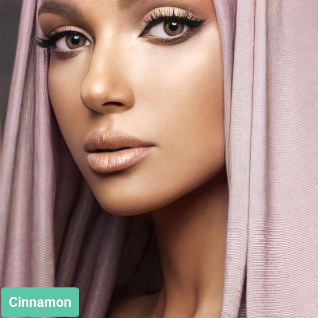 فروش لنزLa Cinnamon (قهوه ای دورمحو) برند آنستازیا بهمراه قیمت امروز لنز رنگی  و قیمت امروز لنز طبی