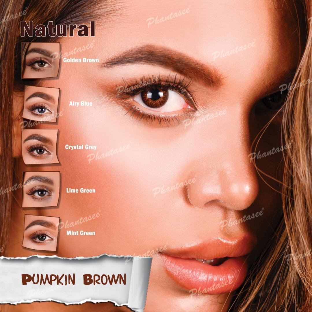 فروش لنز Pumpkin Brown (قهوه ای عسلی)  برند فانتاسی بهمراه قیمت امروز لنز رنگی و قیمت امروز لنز طبی