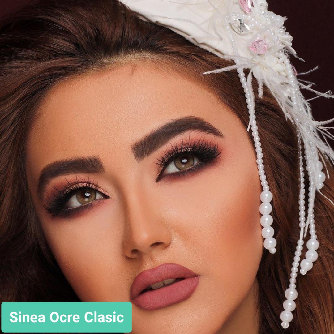فروش لنز Sinea Ocre Classic (قهوه ای دورخط محو)  برند جمستون لاکچری  بهمراه قیمت امروز لنز رنگی و قیمت امروز لنز طبی