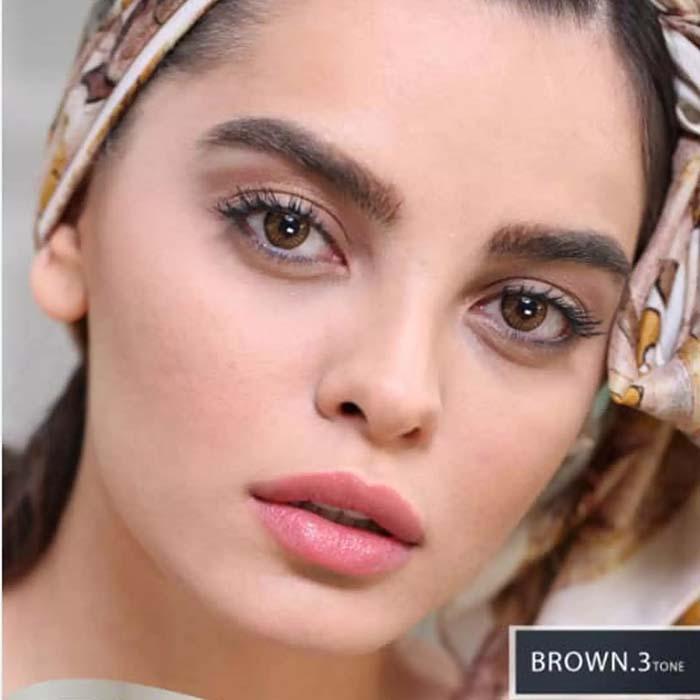 فروش Brown T3 (قهوه ای عسلی)  بهمراه قیمت امروز لنز طبی و قیمت امروز لنز رنگی