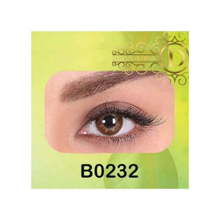 فروش لنز B0232 (قهوه ای عسلی)   بهمراه قیمت امروز لنز طبی و قیمت امروز لنز رنگی
